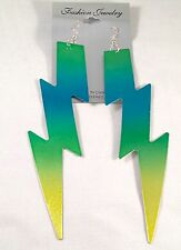 Long Colorful Lightning Bolt Earrings