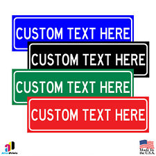 CUSTOM Personalized Your Text Here Aluminum Parking Safety Sign