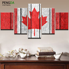 Canada Flag Art Wall Modern Painting Abstract Picture Canvas Poster Home Decor