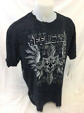 Mens NEW AFFLICTION T Shirt BLACK COMBINATION CROSS WING XXXL 3XL A11230 NWT