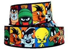 "Devil Taz Pals Inspired Cartoon Character 1"" Printed Grosgrain Hairbow Ribbon"