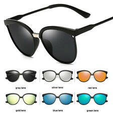 Womens Vintage Retro Designer Flat Lens Sunglasses Eye Glasses Eyewear Shades