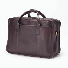 Clava Double Gusset Leather Legal Briefcase