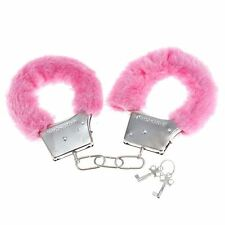 PINK FURRY FLUFFY HANDCUFFS AND EYE MASK  FANCY DRESS HEN NIGHT STAG DO PLAY TOY
