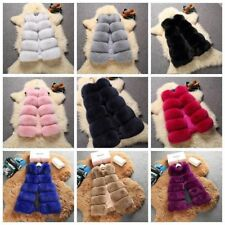 Fashion Women Winter Warm Faux Fur Jacket Coat Vest Jacket Outwear Gilet