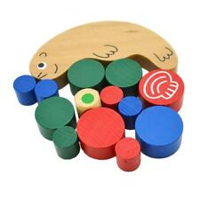 KIDS BABAY INTELLECTUAL STACKING BUILDING BLOCKS COUNTING EDUCATIONAL WOODEN TOY