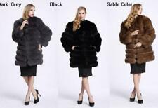Fashion Long Women Winter Warm Coat Outwear Faux Fur Overcoat Jacket Coat