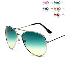 Retro Gashion Unisex Aviator Sunglasses Women Men Glasses Eyewear Transparent ik