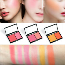 Face Cheek Blush Palette Kit Contour Makeup Blusher Powder Set - 2 Colors