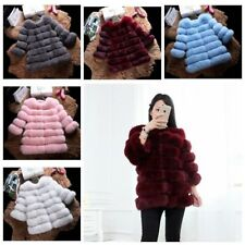 Fashion Long Women Winter Warm Gilet Outwear Girls Slim Faux Fur Jacket Coat