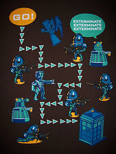 DOCTOR WHO Tardis Daleks Cybermen Time Lord Weeping Angels Mens T-Shirt (M-2XL)