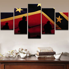 5Pcs Flag Soldiers Modern Abstract Painting Poster Canvas Wall Art Home Decor
