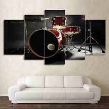 Drum Music Instrument Modern Abstract Painting Wall Poster Canvas Art Home Decor
