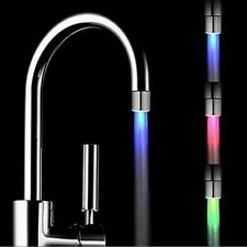 RGB 3 Color Glow Temperature Sensor Shower Water-Tap Faucet  LED Light Kitchen