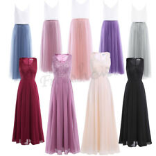 Women Chiffon Bridesmaid Long Dress Evening Lady Formal Party Prom Ball Gown NEW