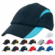 Adults Plain Polyester Mesh Caps   Unstructured Cap   Sports Clubs Active Wear