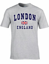 LONDON ENGLAND UNISEX T-SHIRT TEE TRENDY GREAT BRITAIN GIFT UNION JACK T SHIRT