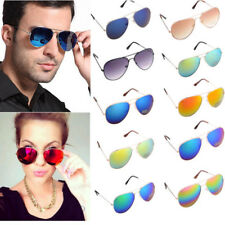 Unisex Women Men Vintage Retro Aviator Sunglasses Glasses Shades Eyewear Mirror