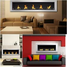 Wall Recessed Bio Ethanol Wall Mounted Fireplace Stainless Steel Space Heaters