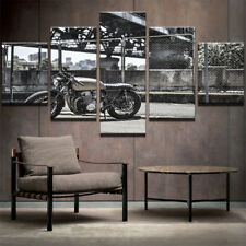 Motorcycle Vintage Abstract Painting Modern Poster Canvas Wall Art Home Decor