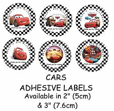 CARS Personalised Self Adhesive Glossy Labels/Stickers