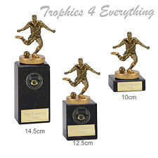 "Football & Footballer  Trophy Award on Marble Bases "" FREE ENGRAVING"" Gold"