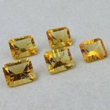 NATURAL CITRINE YELLOW 6X8MM TO 13X18MM OCTAGON SHAPE CONCAVE CUT LOOSE GEMSTONE
