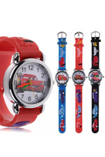 Disney Cars 3D Quartz Watch Kids Analogue Rubber Wrist Watch Christmas Gift