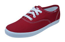 Keds Original Champion CVO Girls Lace Up Sneakers / Casual Plimsolls - Red
