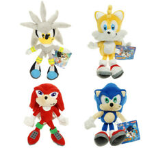 "New Silver Sonic The Hedgehog Figure Stuffed Plush Soft Doll Toy 23cm 9"" Gifts"