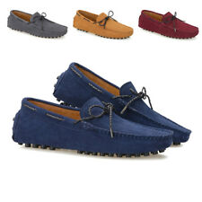 Mens Driving Moccasins Slip On Flats Casual Suede Leather Penny Loafers Shoes