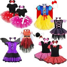 Halloween Girls Fancy Dress Minnise Mouse Costume Outfits Bat Kids Child Clothes