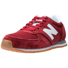 New Balance U420rwg Unisex Red Suede & Mesh Casual Trainers Lace-up New Style
