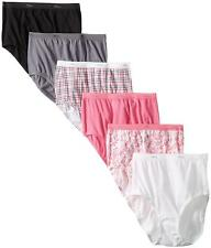 Hanes Women's 6 Pack Core Cotton Brief Panty-Assorted