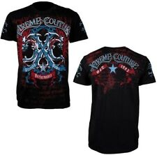 "AFFLICTION Xtreme Couture ""HAWKEYE"" Mens XL Medieval Blue Emblem New UFC Tee"