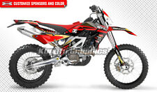 Aprilia RXV SXV 450 550 Dirt Bike Graphics Custom Decal Red Backgrounds Black