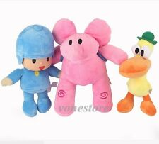 New Bandai Pocoyo Elly Pato Loula Soft Plush Stuffed Figure Baby Toy Doll Gift