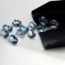 3x4MM TO 8x10 MM OVAL NATURAL SKY BLUE TOPAZ LOOSE GEMSTONE FACETED CUT BRAZIL