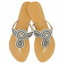 NEW Juliet leather sandals in black & silver Women's by Annie Clare