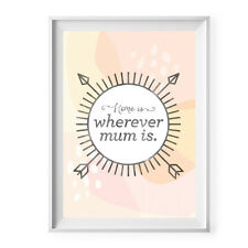NEW Home is wherever Mum is print Women's by Today Sunshine