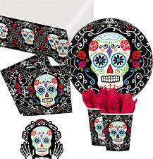 Day of the Dead Halloween Party Mexican Skeleton Tableware Balloons Decorations