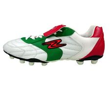 Arza Soccer Cleats Tricolor Adult Red/White/Green Leather Firm Ground
