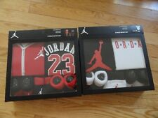 Air Jordan GIFT SET 5pc Baby Boys 2 Bodysuits Infant Cap & Booties Boy's 0-6M