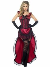 "ADULT WOMEN WESTERN AUTHENTIC BROTHEL BABE COSTUME SMIFFYS FANCY DRESS ""B"""