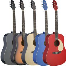 NEW Stagg SA30D Full Size Deluxe Dreadnought Acoustic Guitar - 5 COLORS