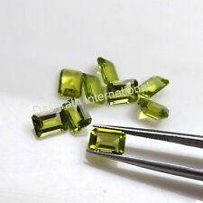 4X6 mm to 8x10 MM NATURAL PERIDOT GREEN COLOR OCTAGON CUT LOOSE GEMSTONE