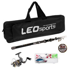 Fishing Rod and Reel Combos, Spinning Reel+Rod+Fishing Line+Accessories+Bag