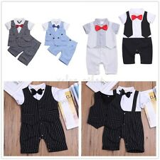 Kids Toddler Baby Boys Wedding Formal Tuxedo Suit Gentleman Outfits Wear Suit
