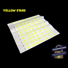 100 x Tyvek Party, Event, ID Wristbands Stars  - 7 COLOURS AVAILABLE