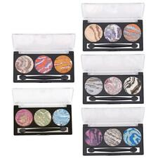 3 Colors Shimmer Eyeshadow Palette for Women Smoky Eyes Makeup Comestic